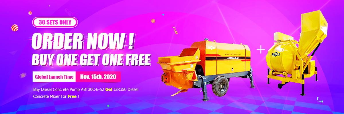 Buy ABT30C  Trailer Pump get JZR350 mixer free