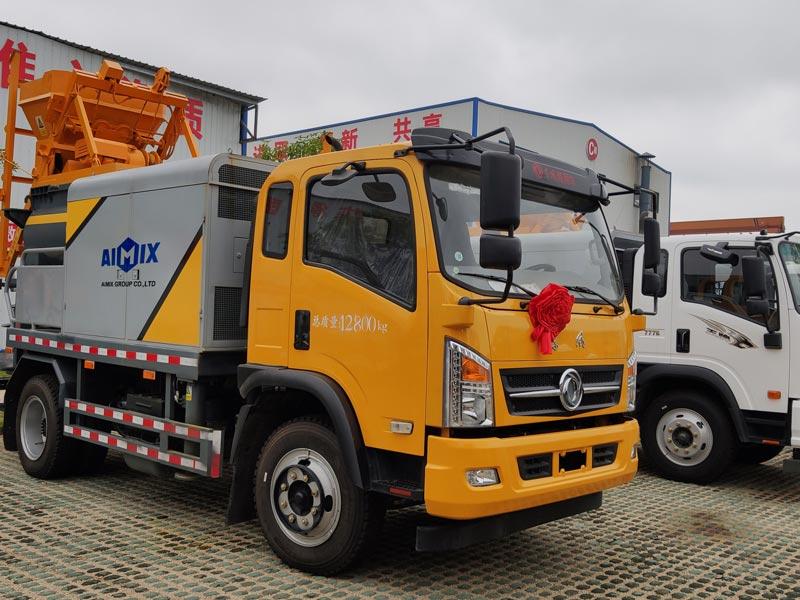 Truck mounted concrete mixer pump-2