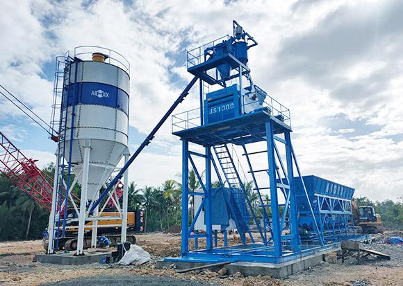 AJ-50 Foundation Free Concrete Plant in Surigao, Philippines