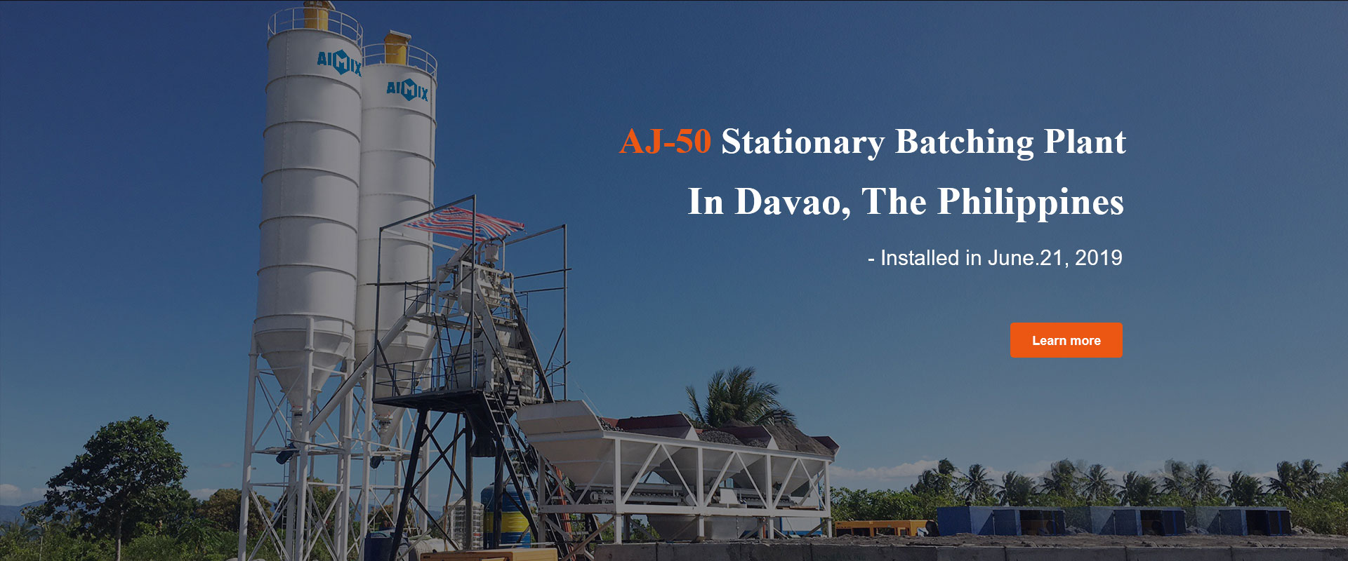 AJ-50 Stationary Batching Plant in Davao, Philippines