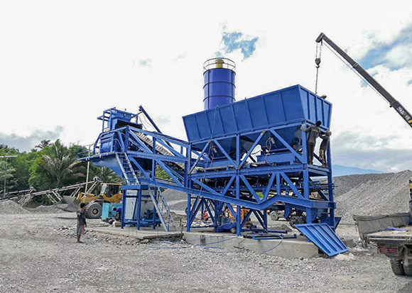 AJY-60 Mobile Batching Plant in Davao, Philippines