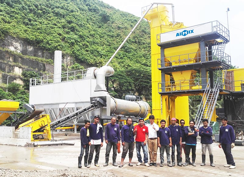 ALQ80 Batch Stationary Asphalt Mixing Plant in Philippines
