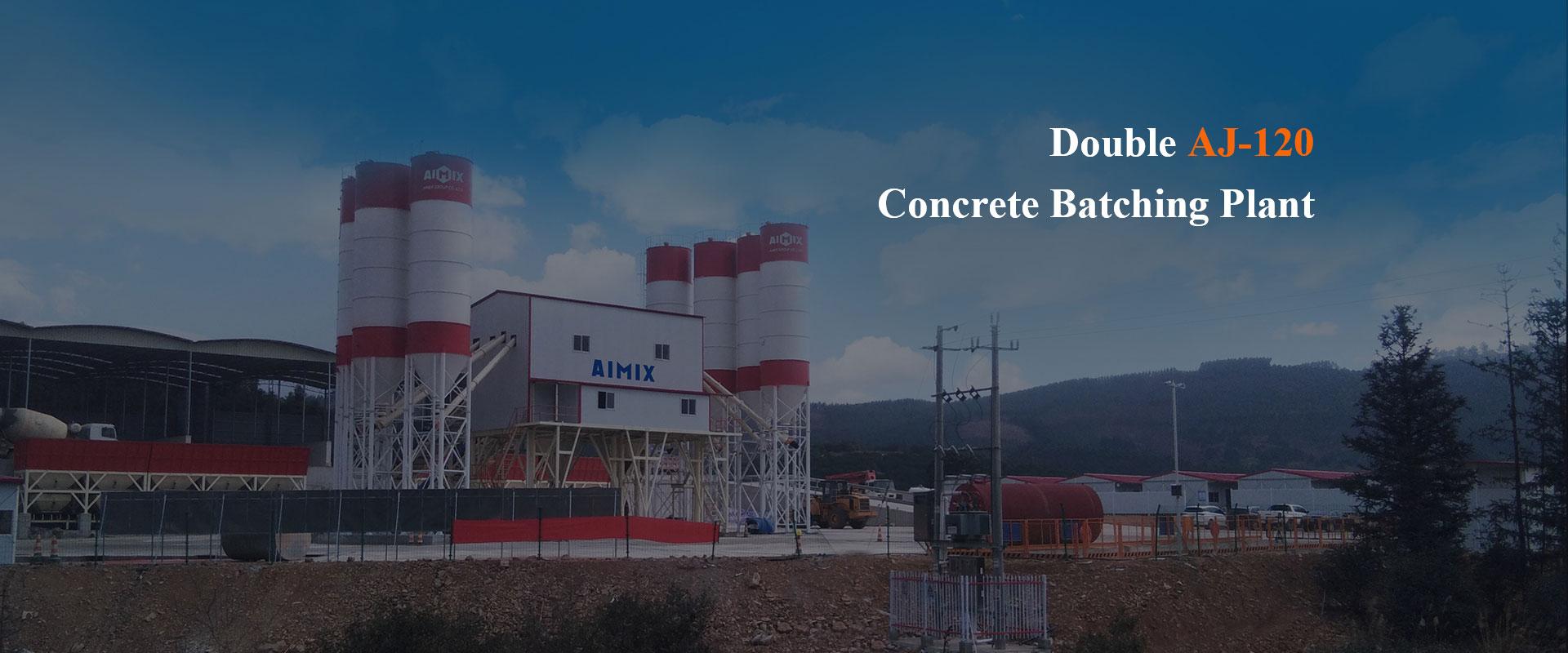 Double AJ-120 Concrete Batching Plant