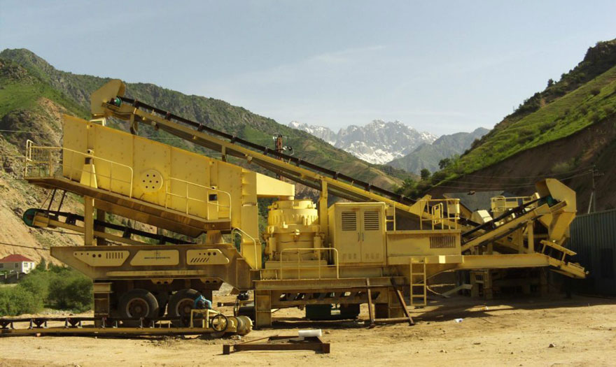 Mobile cone crusher plant works in the Philippines
