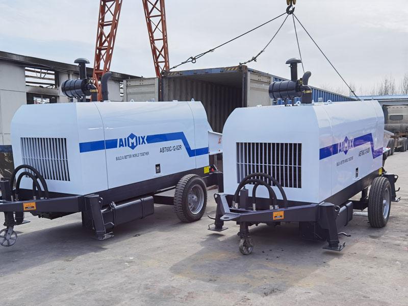 2 diesel trailer pumps sent to Uzbekistan