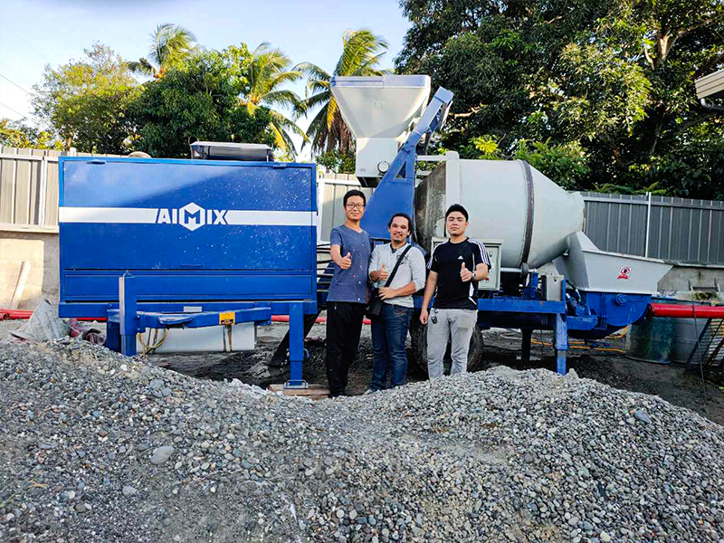 ABJZ40C Diesel Concrete Mixer Pump From Davao Philippines