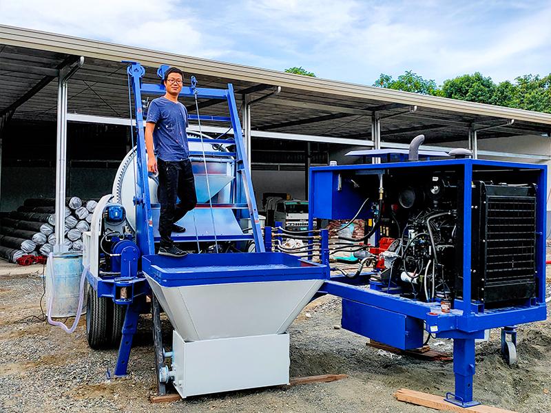 ABJZ40C Small Concrete Mixer Pump in Davao Philippines