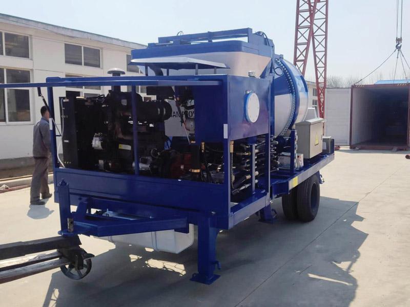 ABJZ40C Small Portable Concrete Pump to Indonesia
