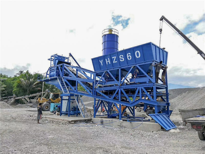 AJY-60 mobile batching plant in the Philippines