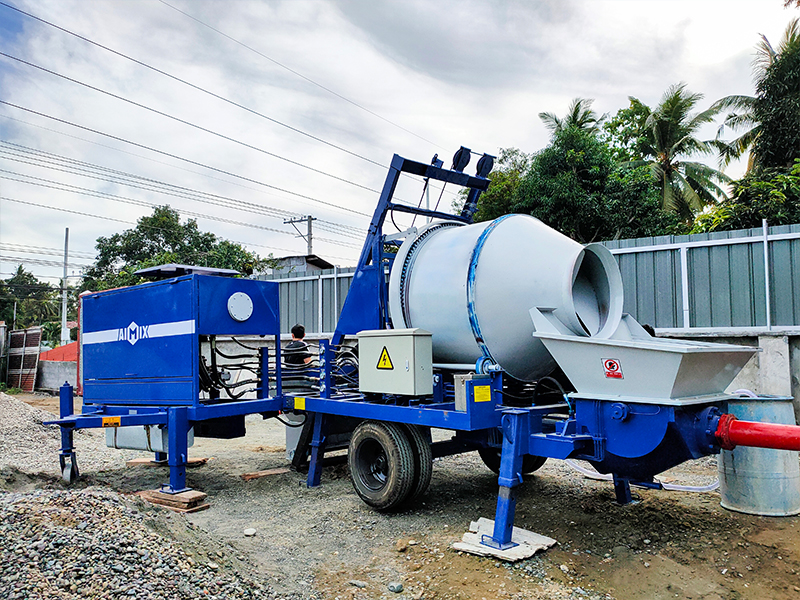 Feedback with ABJZ40C diesel concrete mixer pump in Davao Philippines