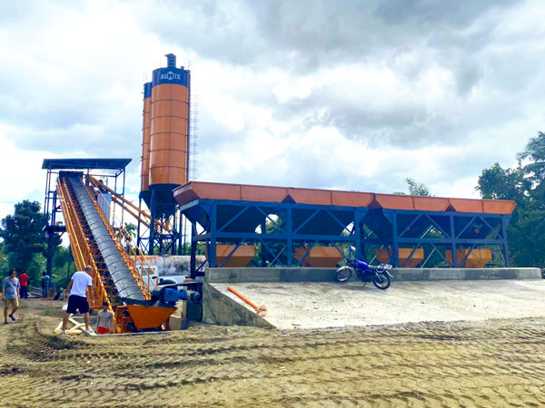 AJ-60 ready mix concrete plant debugging in the Philippines