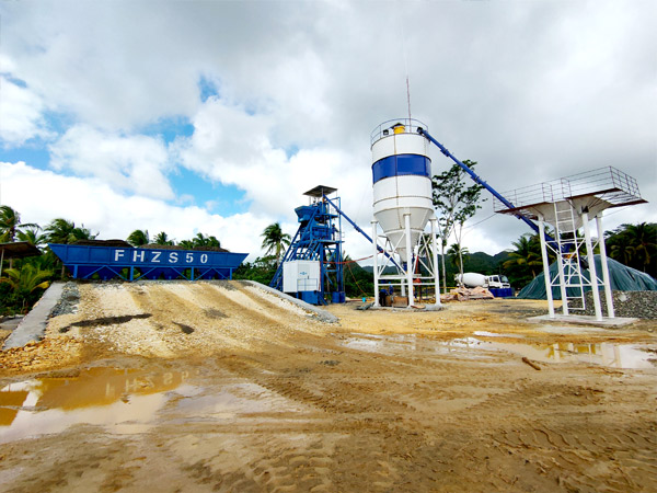 AJ-50 Foundation- Free ready-mix concrete plant Successfully Installed In Surigao, Philippines