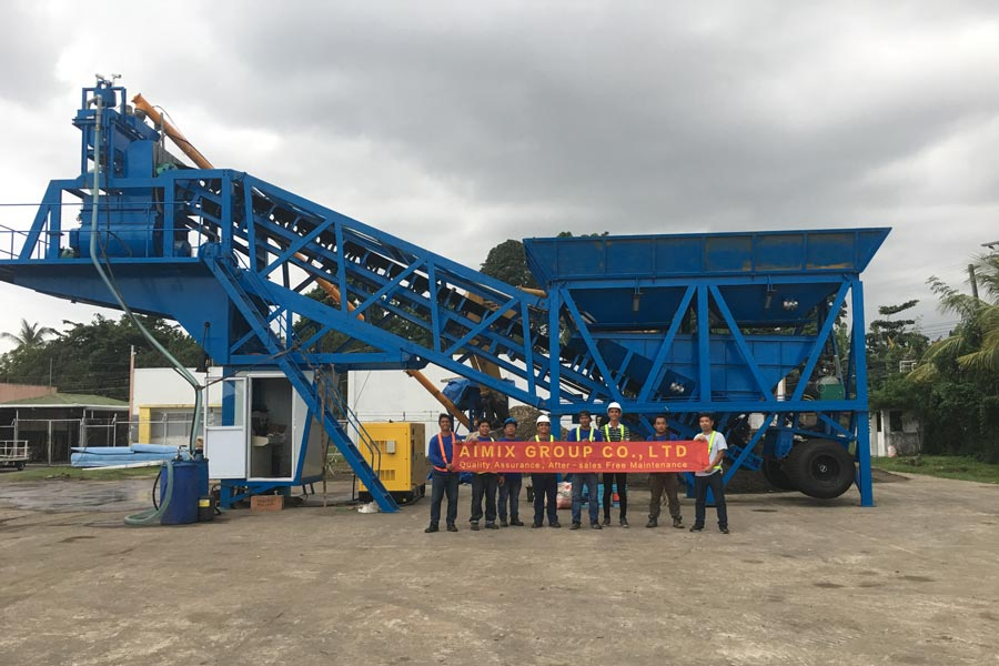 AJY35 Ready-mix mobile concrete plant in Dumaguete the Philippines