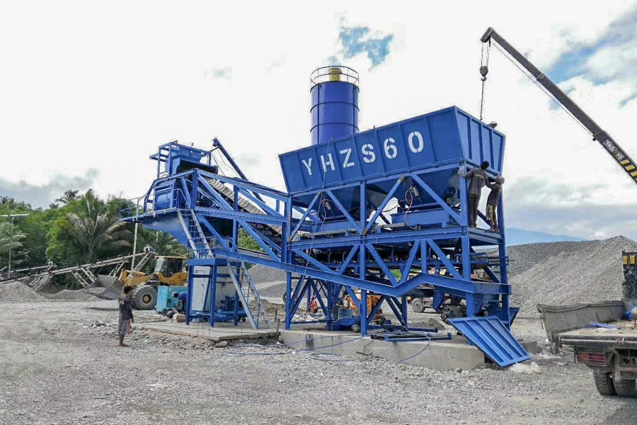 AJY60 Ready-mix mobile batching plant in the Philippines