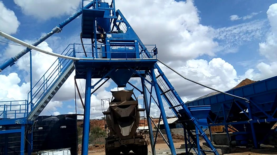 Our Batching plant is making ready-mixed concrete