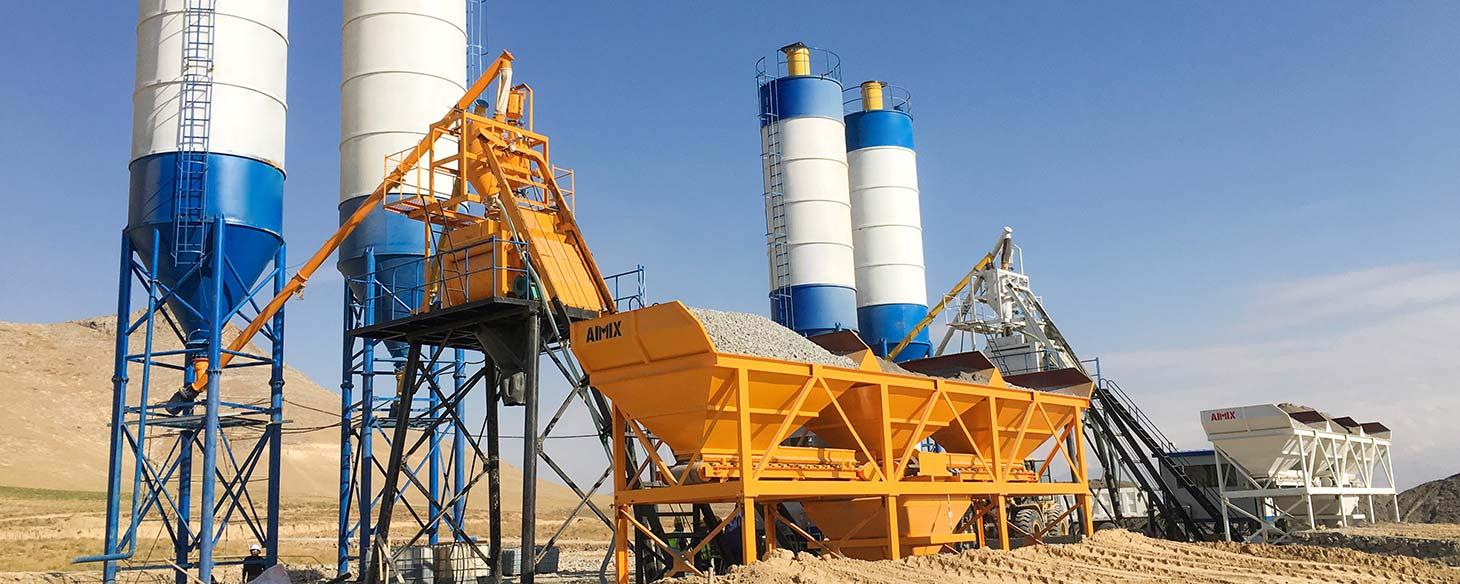 Ready-mix concrete plant