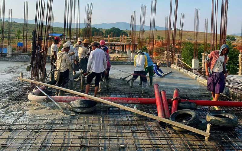 Ready-mixed concrete work site