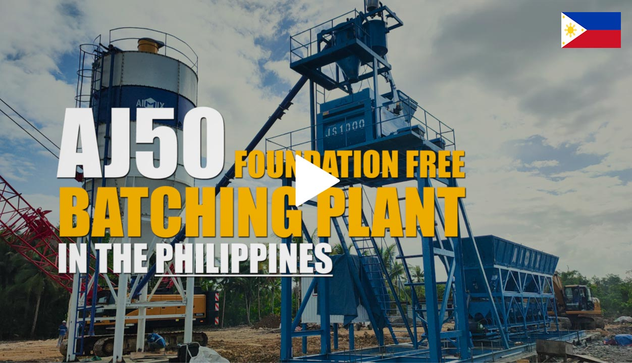 AJ50 Foundation Free Stationary Batching Plant In The Philippines