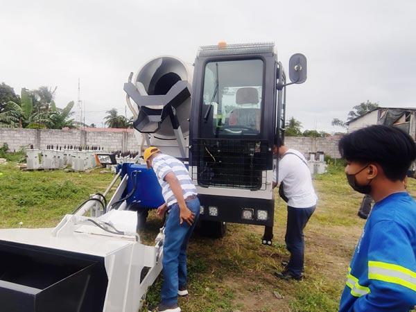 AS-1.8 Self-loading concrete mixer in Manila Philippines