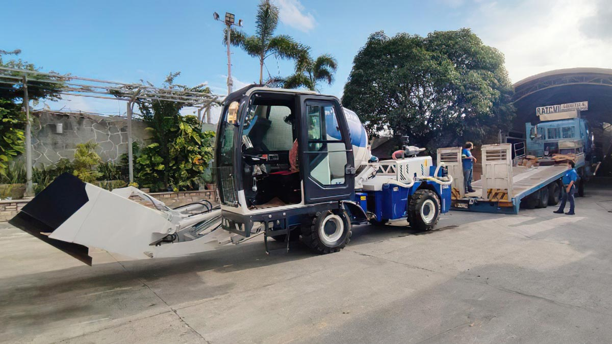 AS-1.8 Self-loading mixer in Manila, Philippines